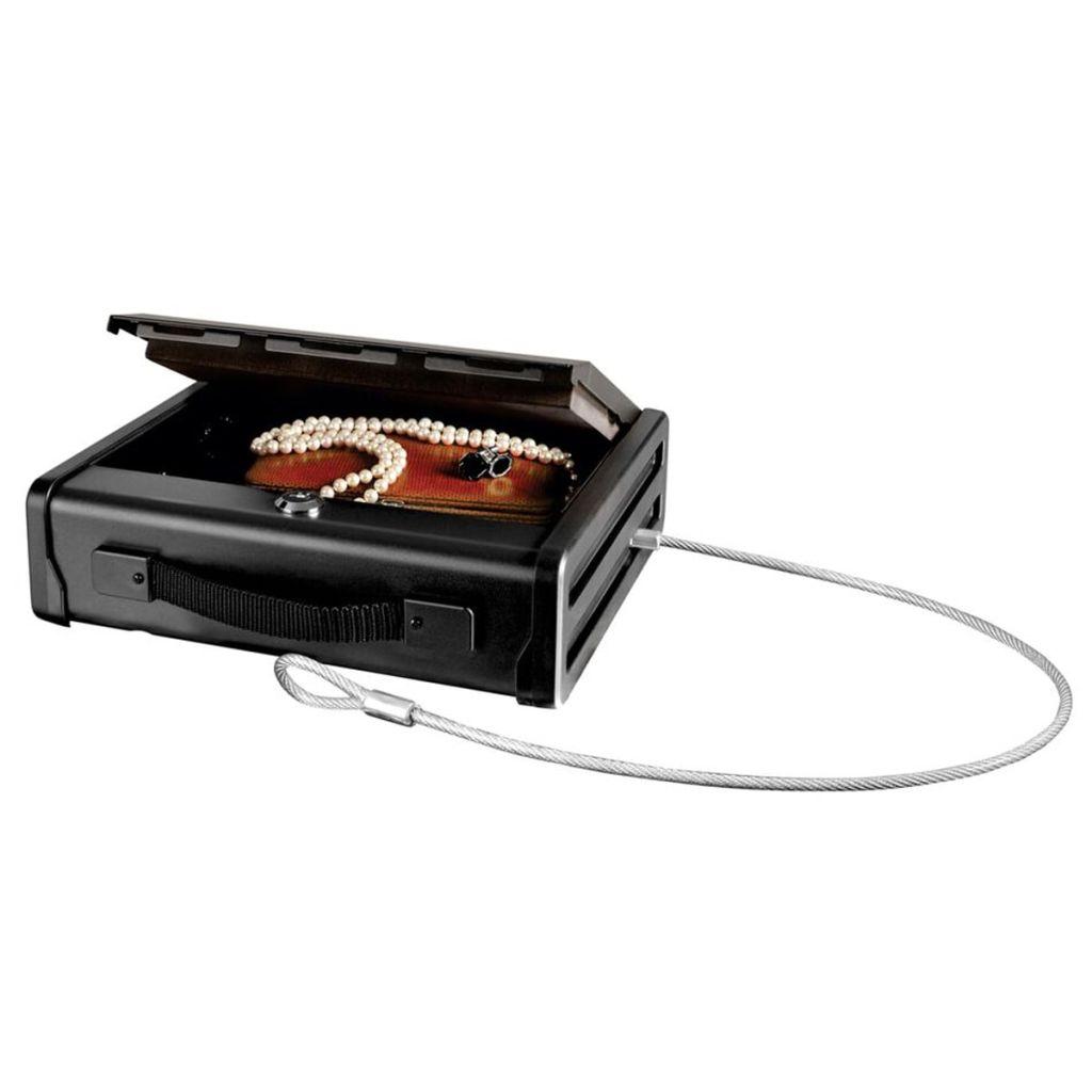 Master Lock PP1KML Malý kompaktný trezor s oceľovým lankom
