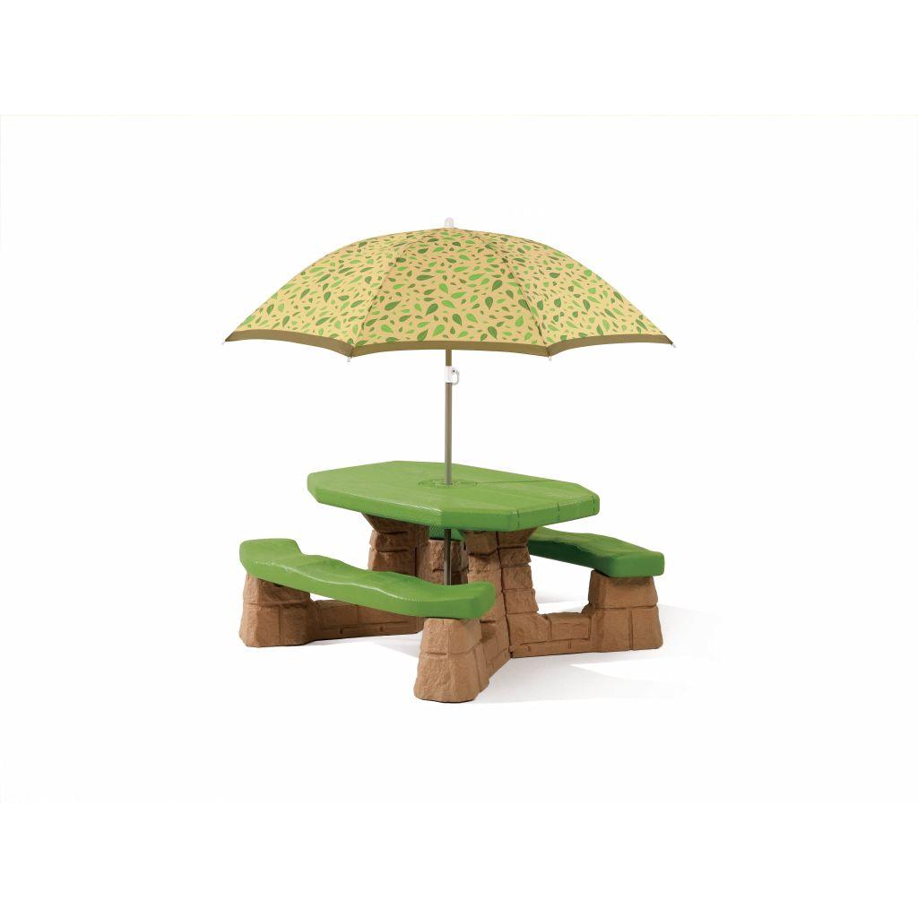 Step2 Piknikový stôl zo slnečníkom