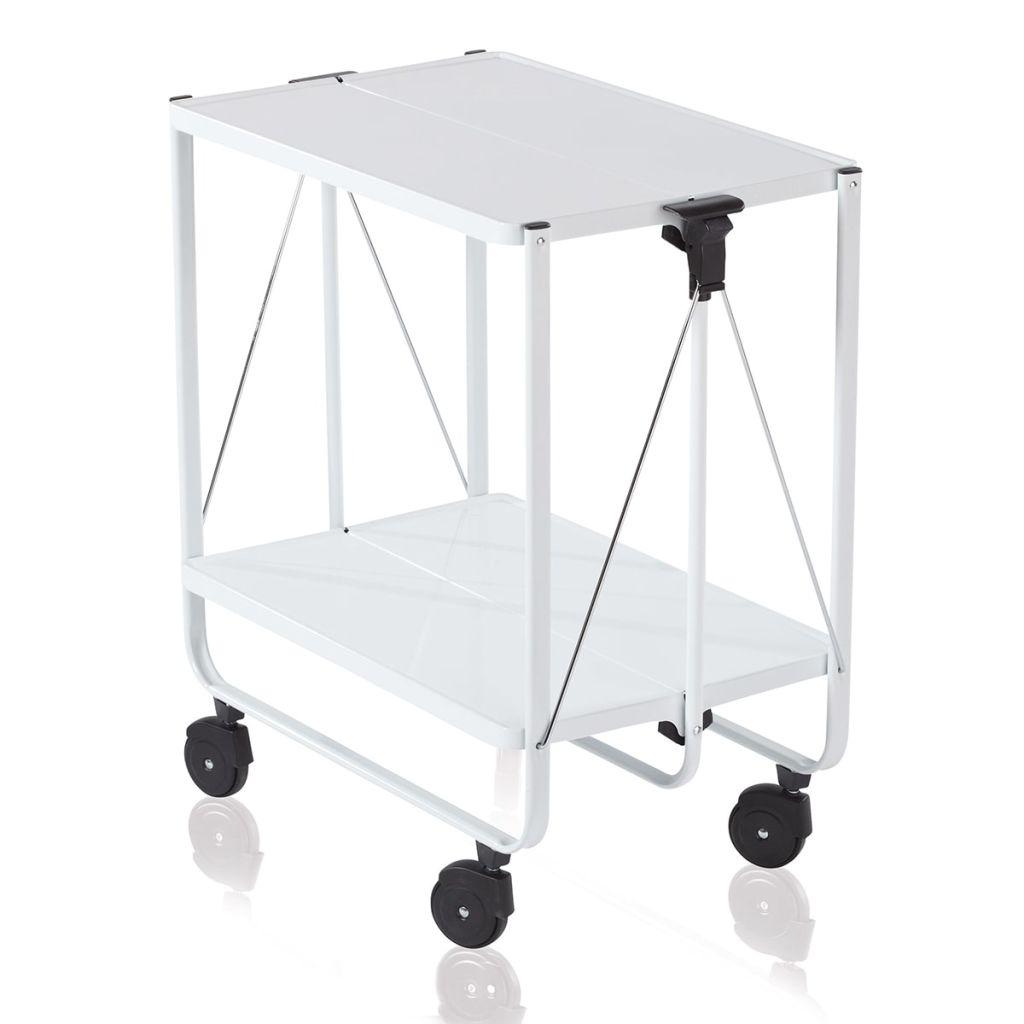 Leifheit Skladací kuchynský vozík, biely, 74236