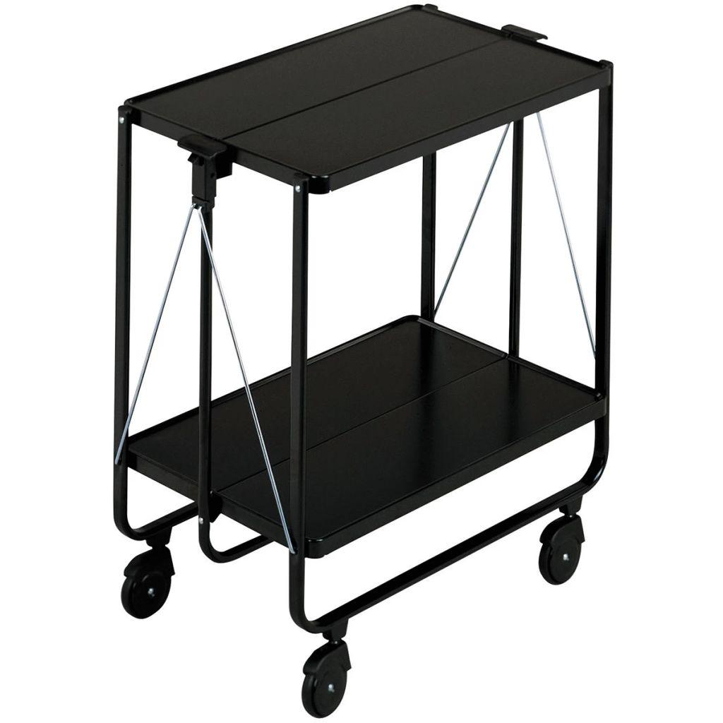 Leifheit Skladací kuchynský vozík, čierny, 74237