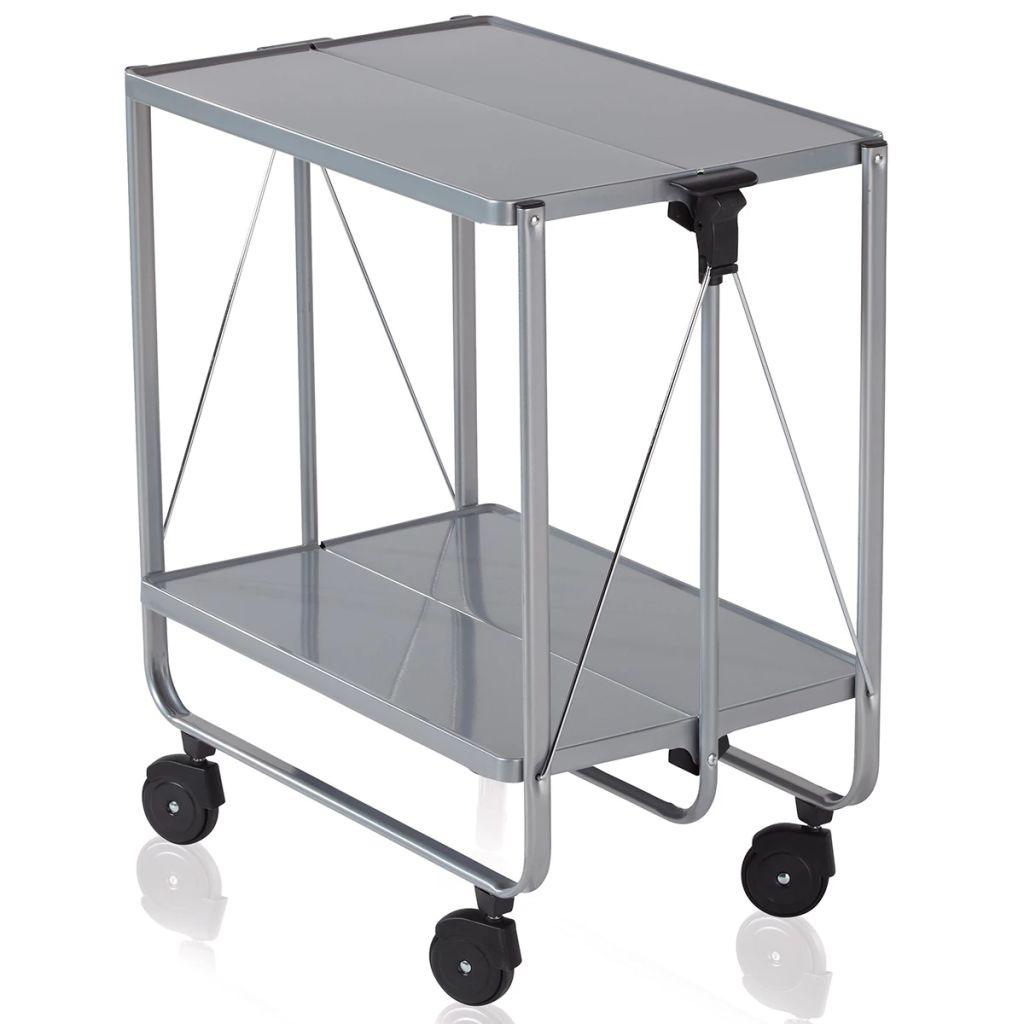 Leifheit Skladací kuchynský vozík, strieborný, 74291