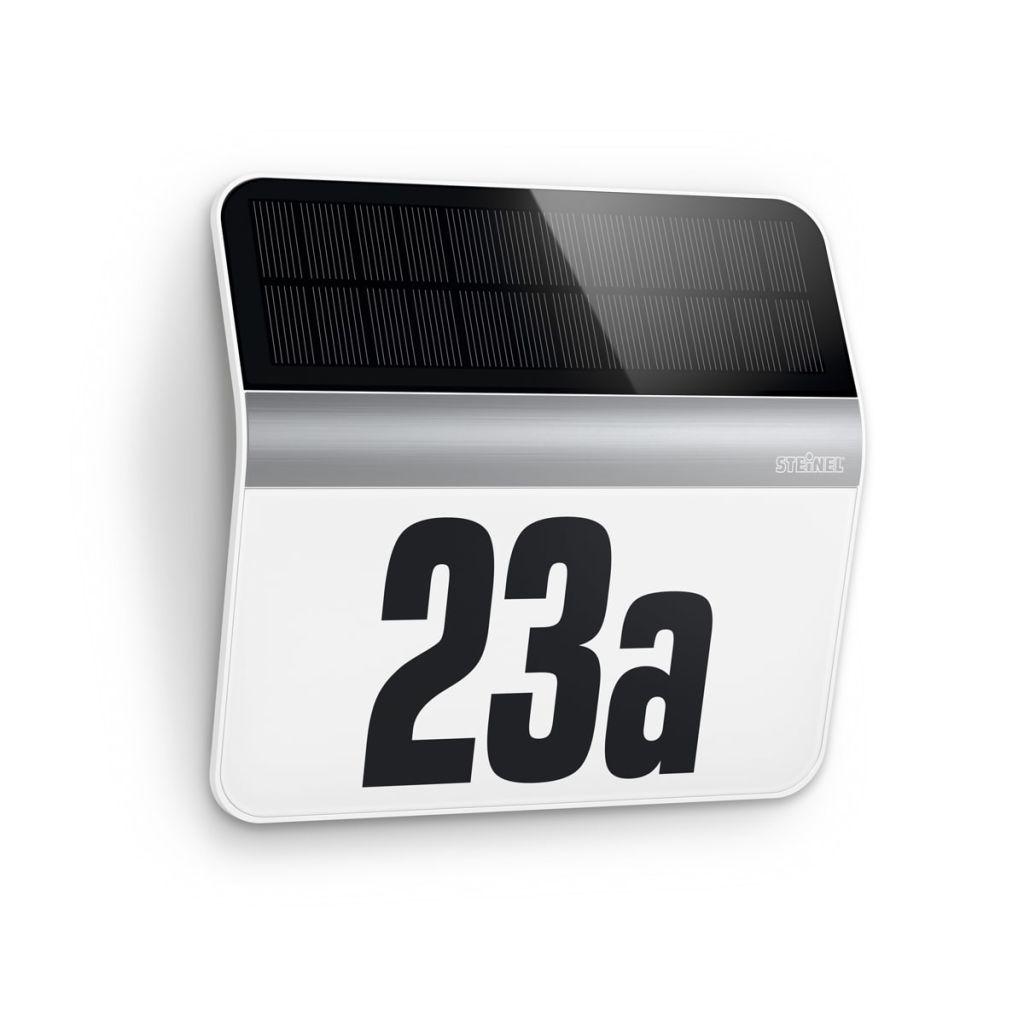 LED osvetlené číslo domu z nerezovej ocele Steinel XSolar LH-N