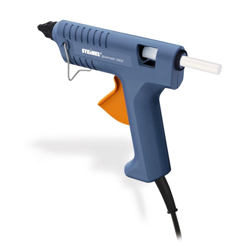 Modrý aplikátor tavného lepidla Steinel Gluematic 3002