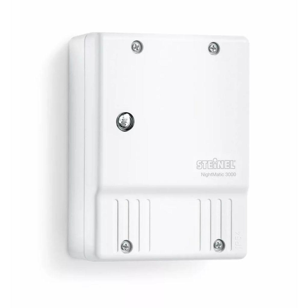 Biely súmrakový spínač osvetlenia Steinel NightMatic 3000