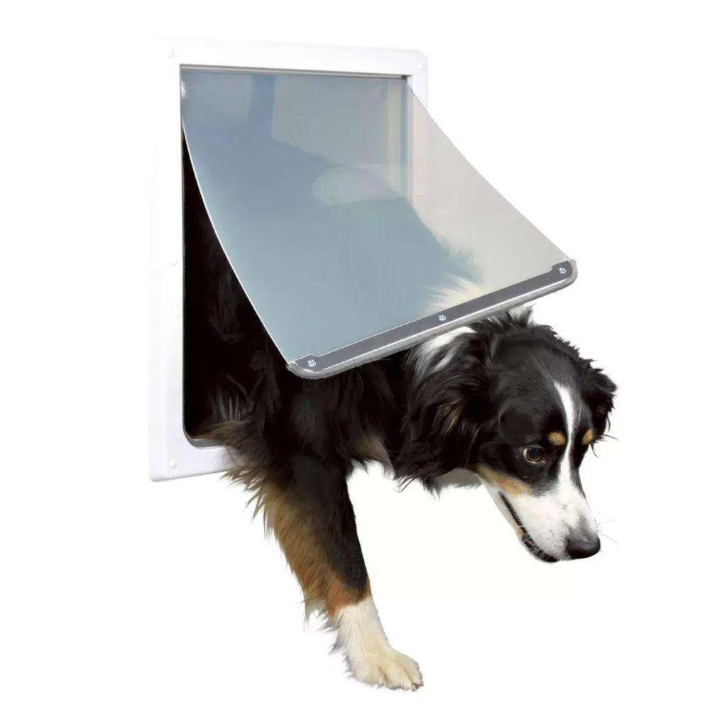 TRIXIE Priechodné dvierka pre psov, M-XL, 39x45 cm, biele, 3879