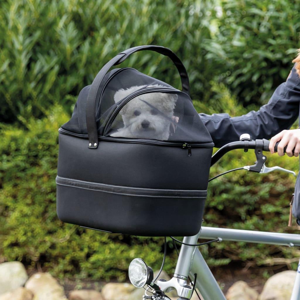 TRIXIE Predný kôš na bicykel pre domáce zvieratá čierny 41x47x29 cm