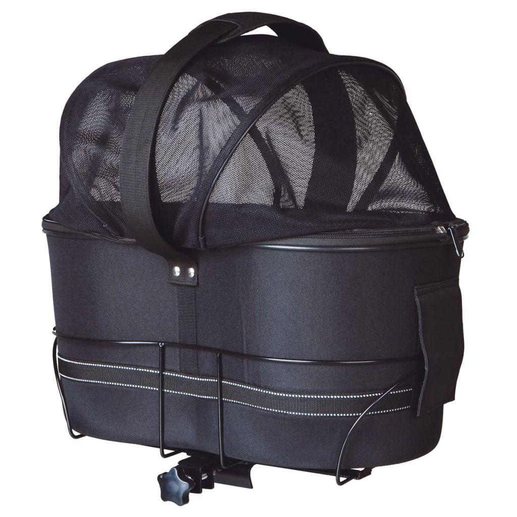 Prepravný box pre psa na bicykel TRIXIE, 29x42x48 cm, čierny, 13118