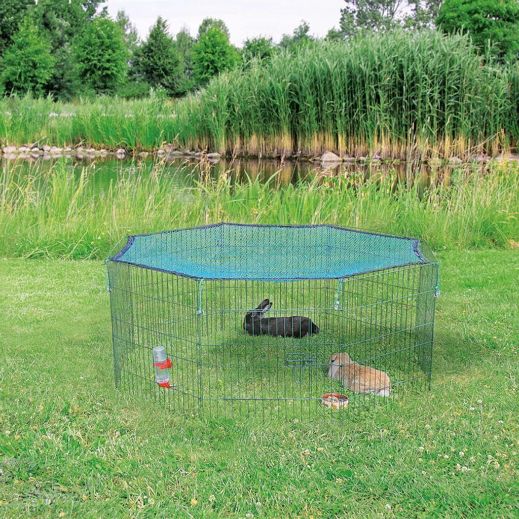 TRIXIE Vonkajšia klietka pre domáce zvieratá s ochrannou sieťou 60x57 cm zelená