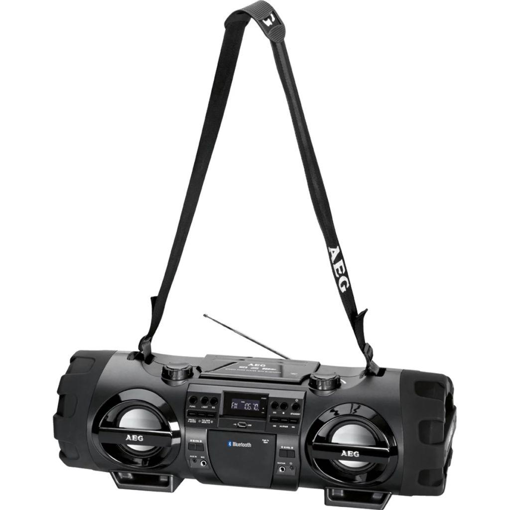 Prenosné stereo rádio s CD AEG SR 4360 BT, čierne