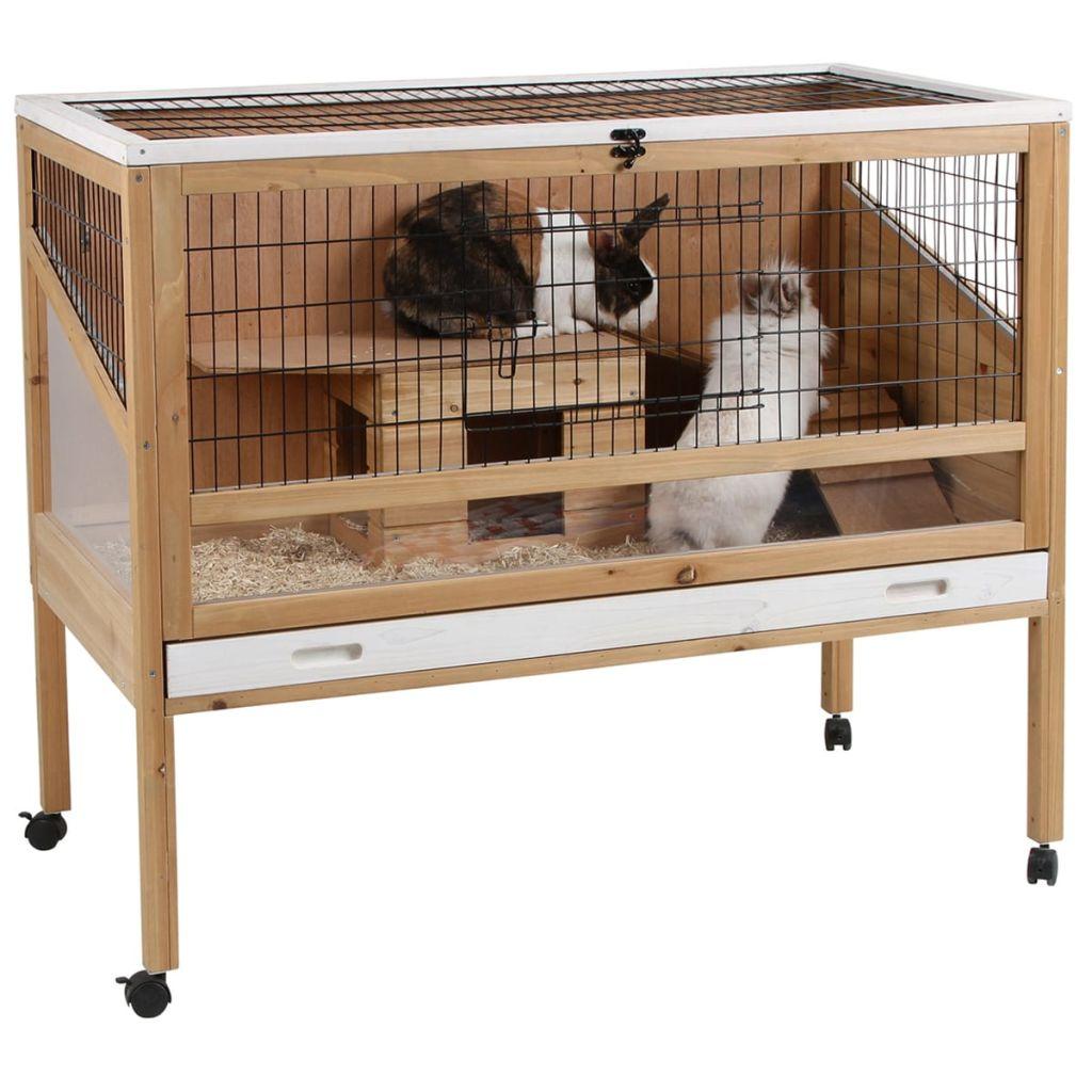 Kerbl Klietka pre malé zviera Indoor Deluxe 115x60x92,5cm, drevo 82725