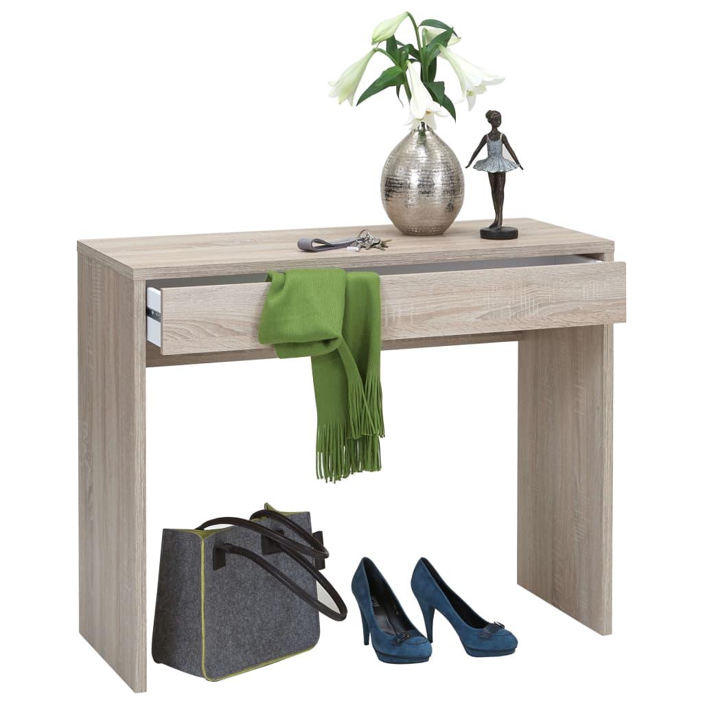 FMD Stôl so širokou zásuvkou 100x40x80 cm farba dubu