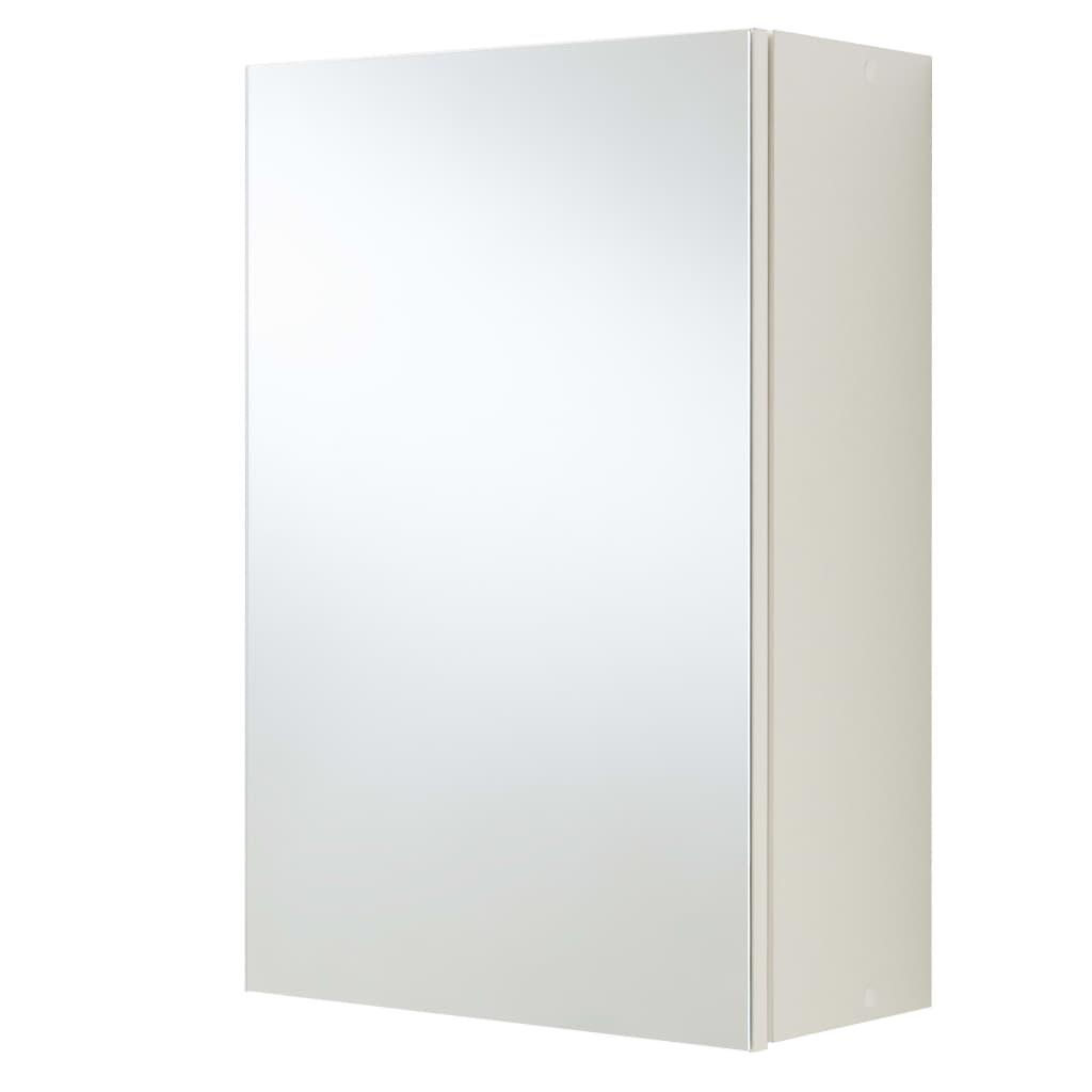 FMD Kúpeľňová skrinka so zrkadlom biela