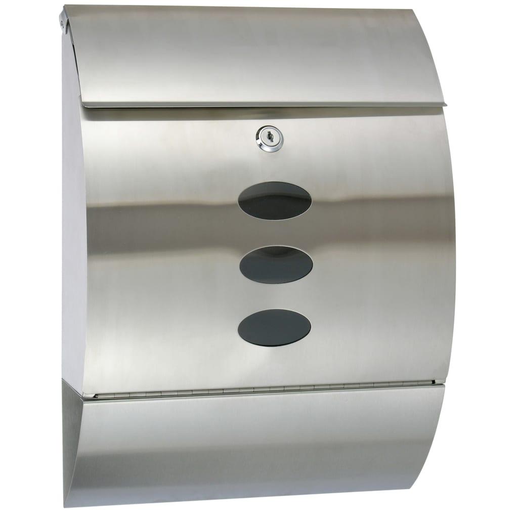 HI Poštová schránka nehrdzavejúca oceľ 30x12x40 cm