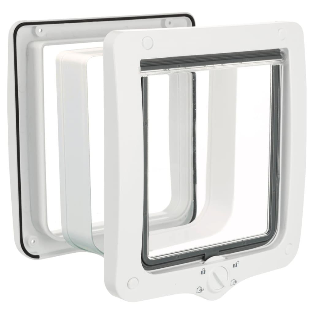 TRIXIE Priechodné 4-cestné dvierka pre mačky 24x28 cm biele