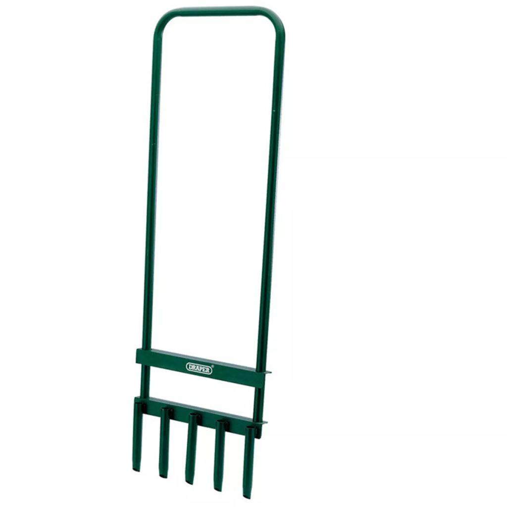 Draper Tools Trávnikový provzdušňovač zelený 29x93 cm 30565