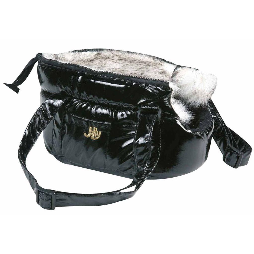 FLAMINGO Taška na prepravu domácich zvierat Lola čierna 25x16x15 cm
