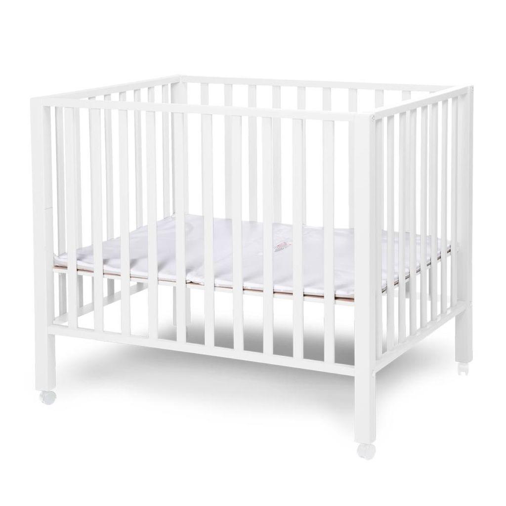 CHILDWOOD Detská ohrádka, buk, biela, PA94W