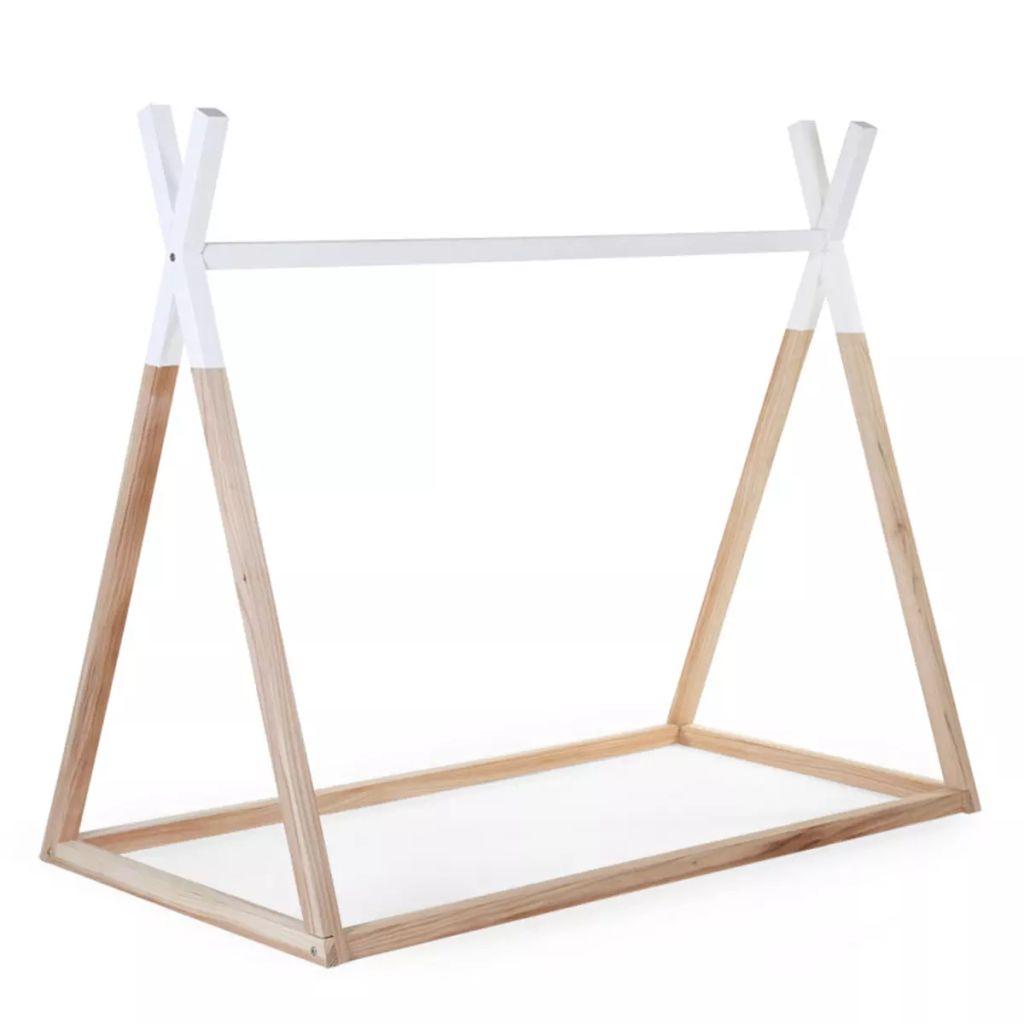 CHILDWOOD Rám postele Tipi, 70x140 cm, drevený, prírodno-biely, B140TIPI