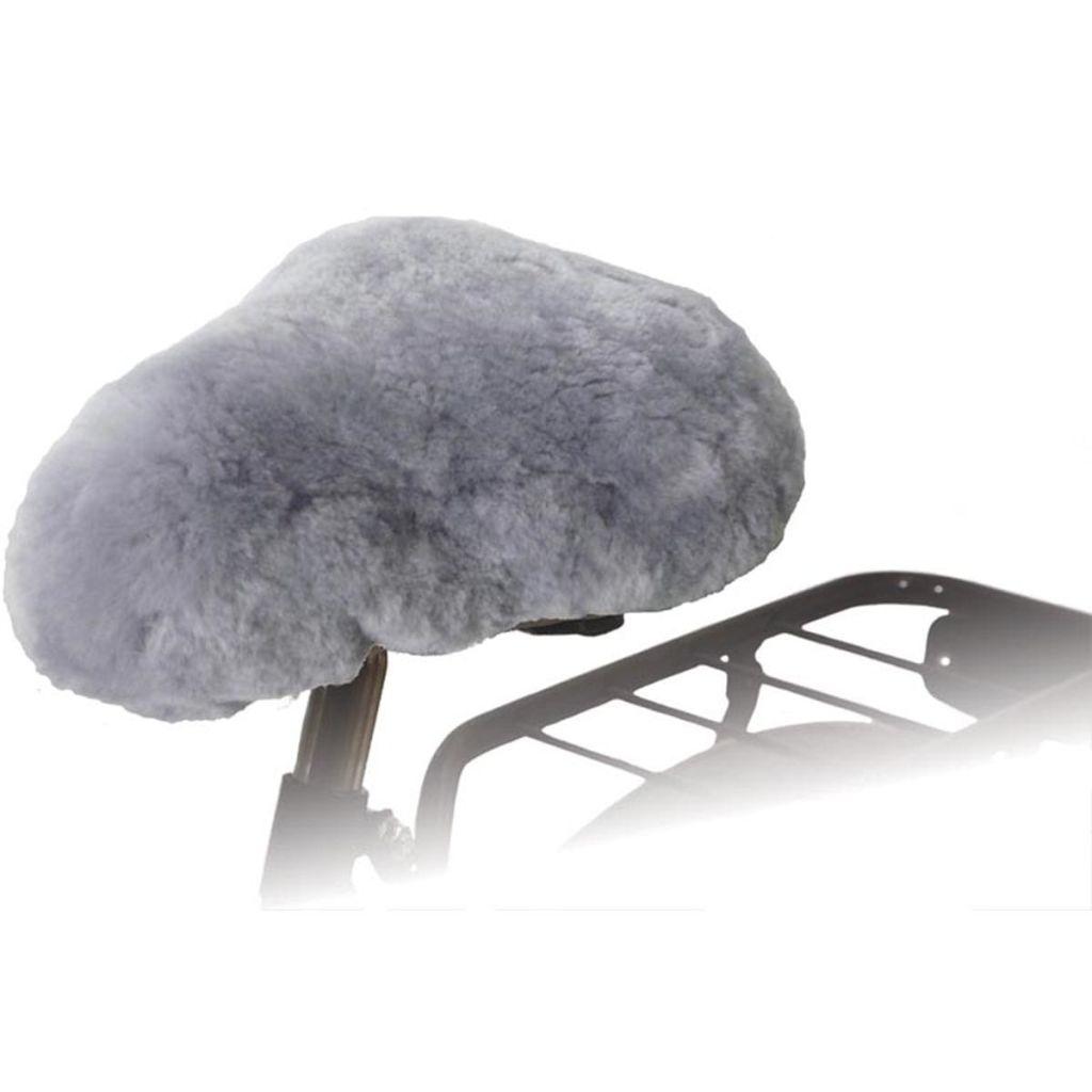 Willex Poťah na sedadlo na bicykel z ovčej kože sivý