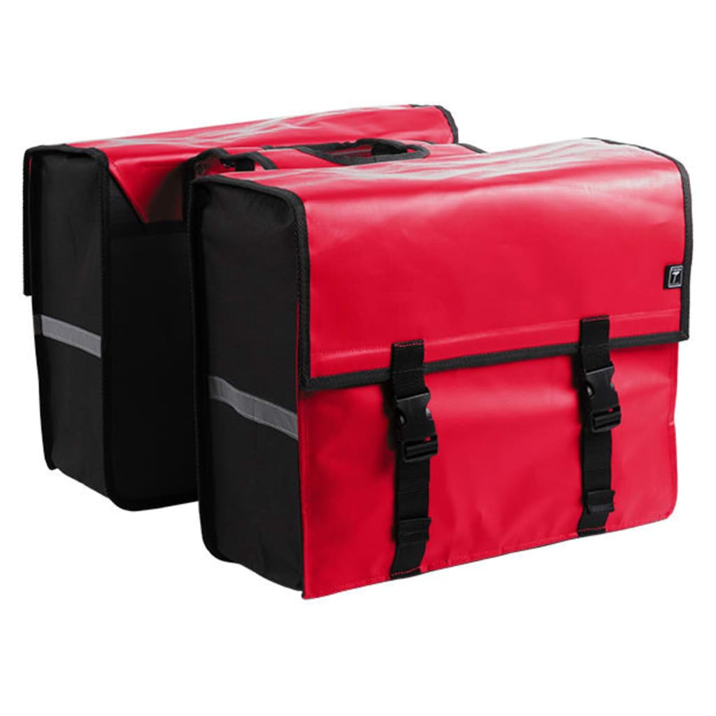 7-series Dvojitá cyklistická taška červená plachtovina 46 l