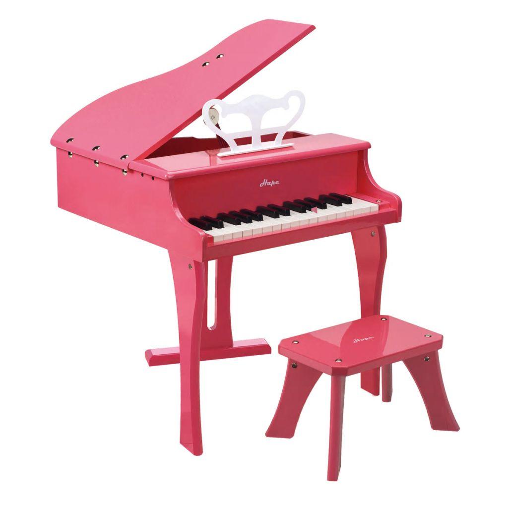 Hape Happy Grand Piano hračkársky klavír ružový E0319