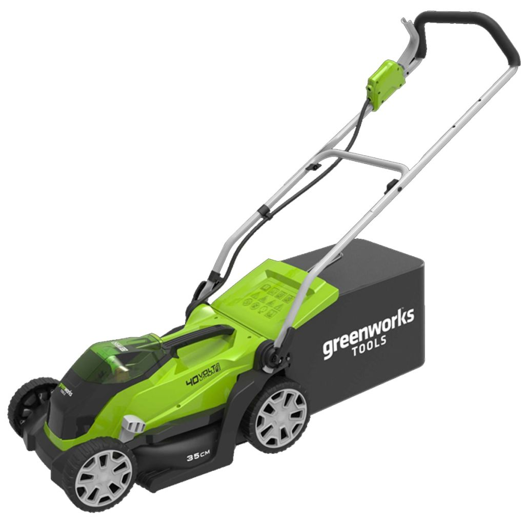 Greenworks Kosačka na trávu s 2x40 V 2 Ah batériou G40LM35 2501907UC