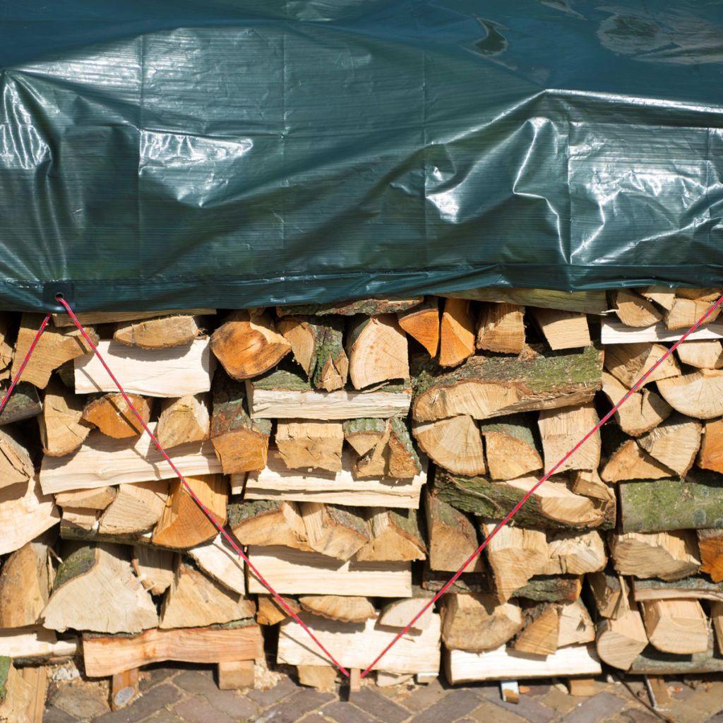 Nature Ochranná plachta na drevo 2x8 m PE zelená 6072413