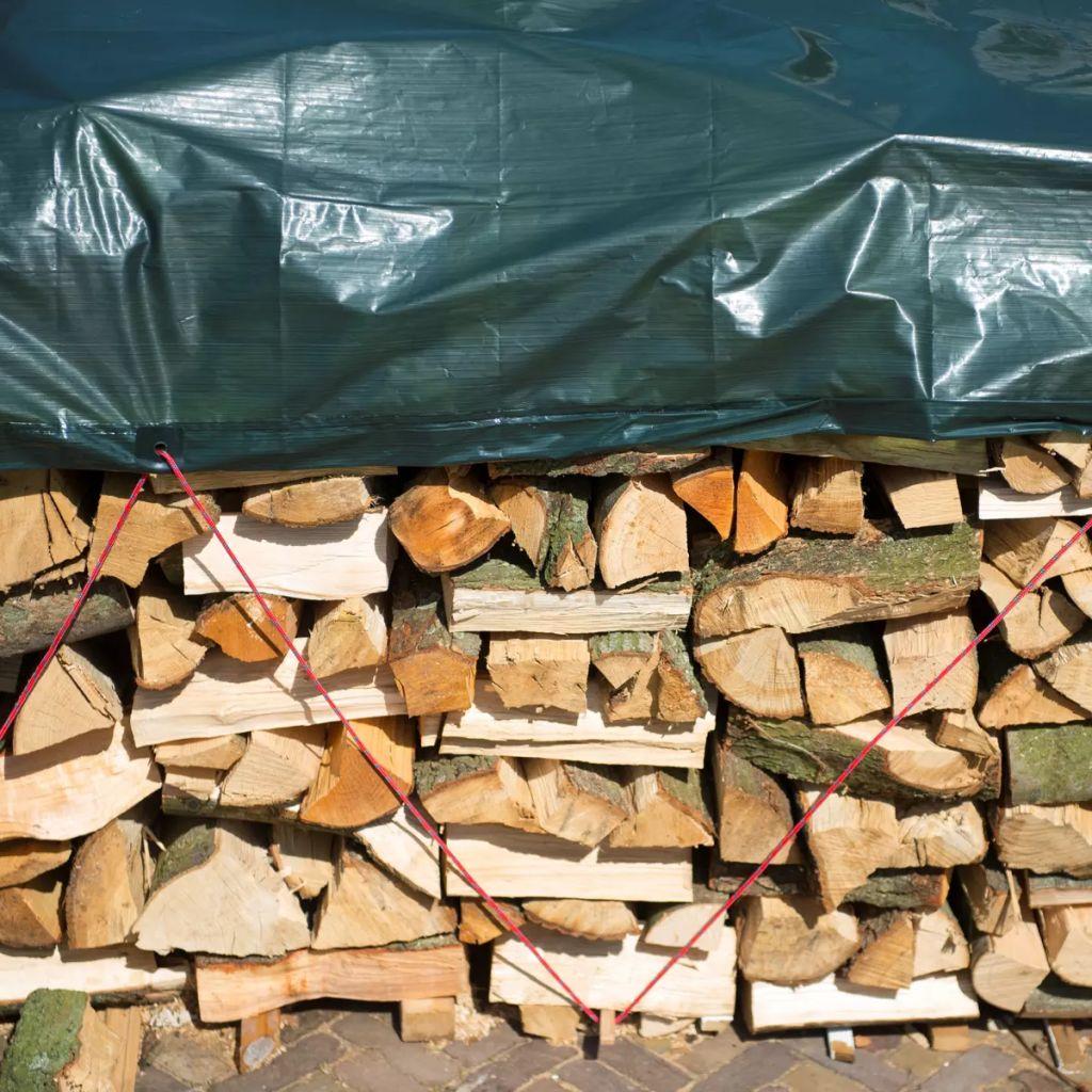 Nature Ochranná plachta na drevo 3x4 m PE zelená 6072418