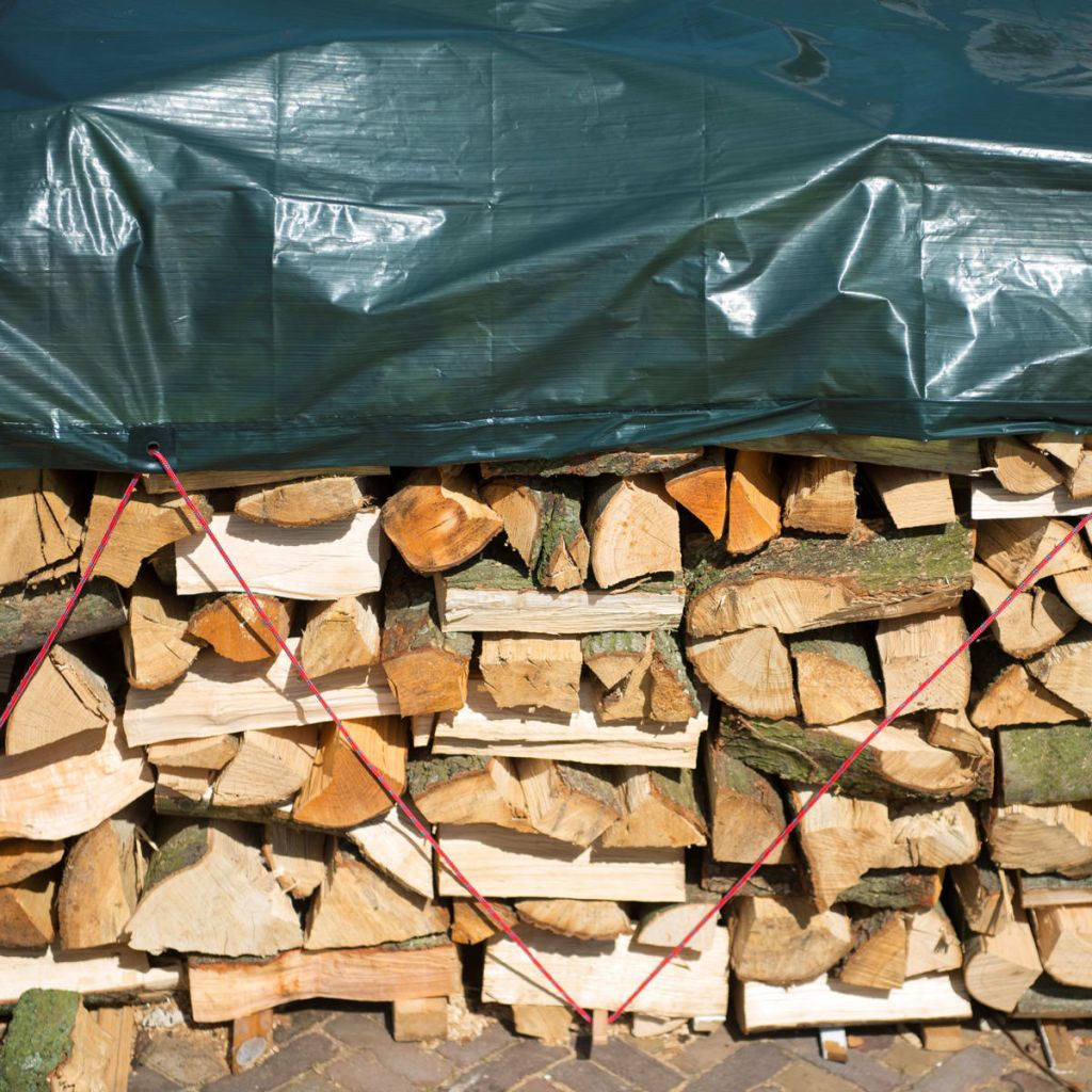 Nature Ochranná plachta na drevo 5x6 m PE zelená 6072420