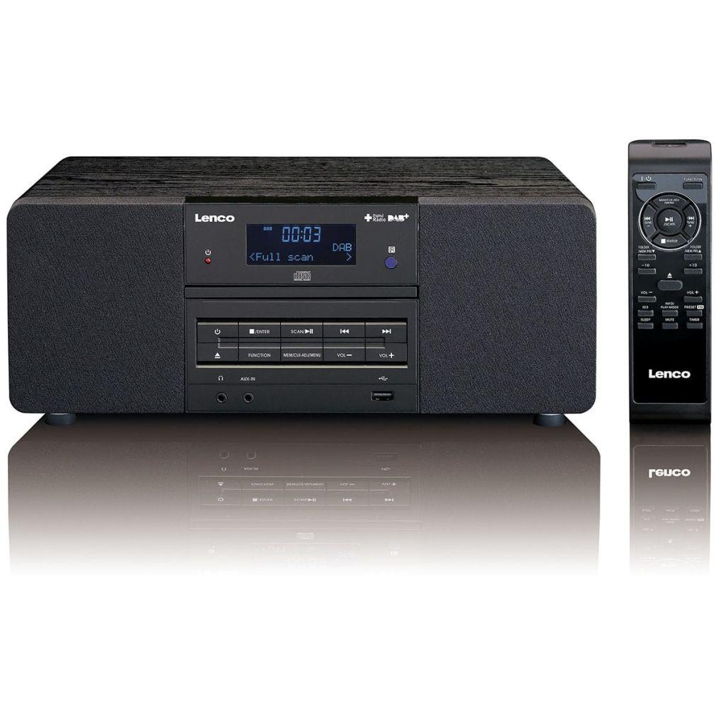 Lenco DAB+/FM rádio s CD/MP3 prehrávačom, DAR-050, čierne