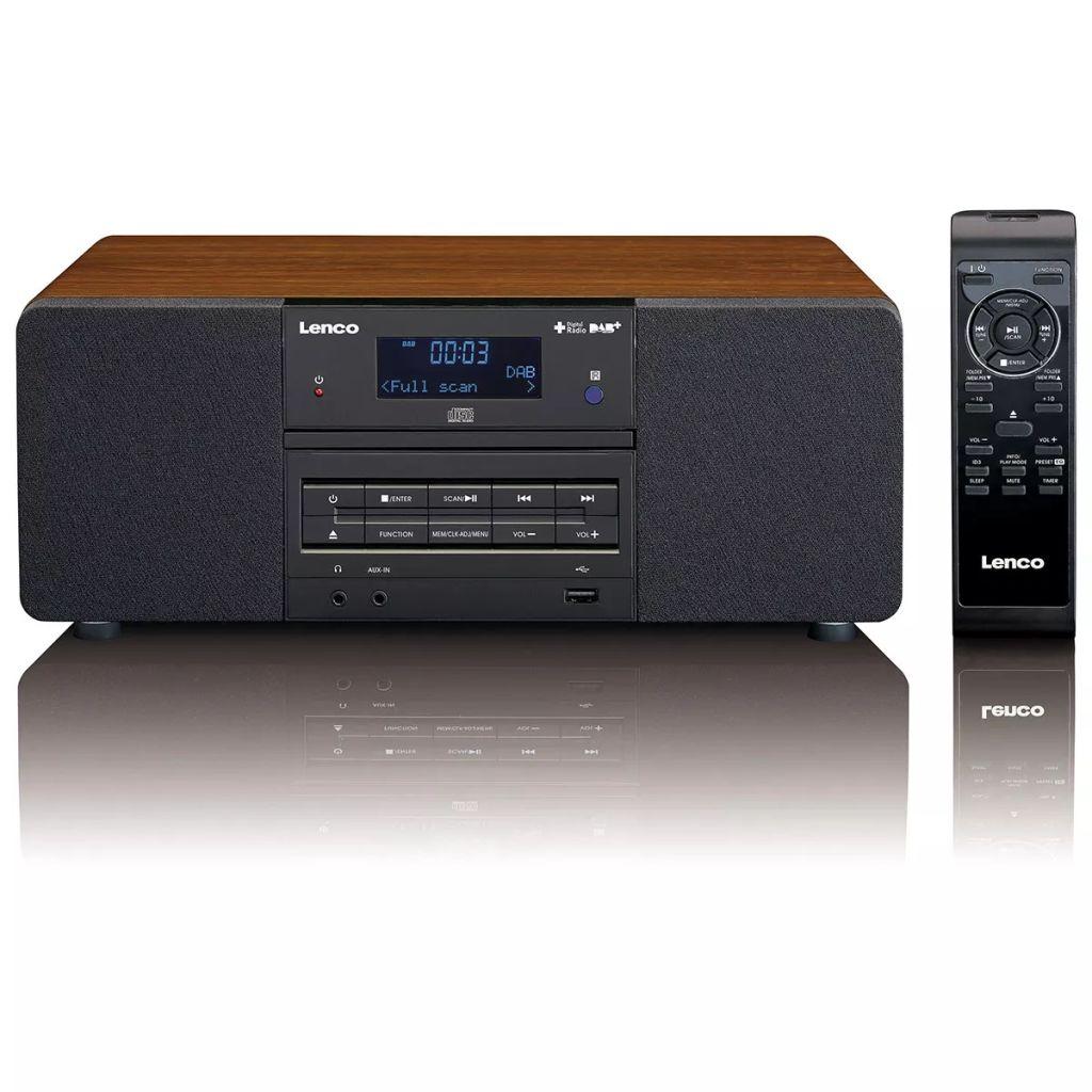 Lenco DAB+/FM rádio s CD/MP3 prehrávačom, DAR-050, farba dreva