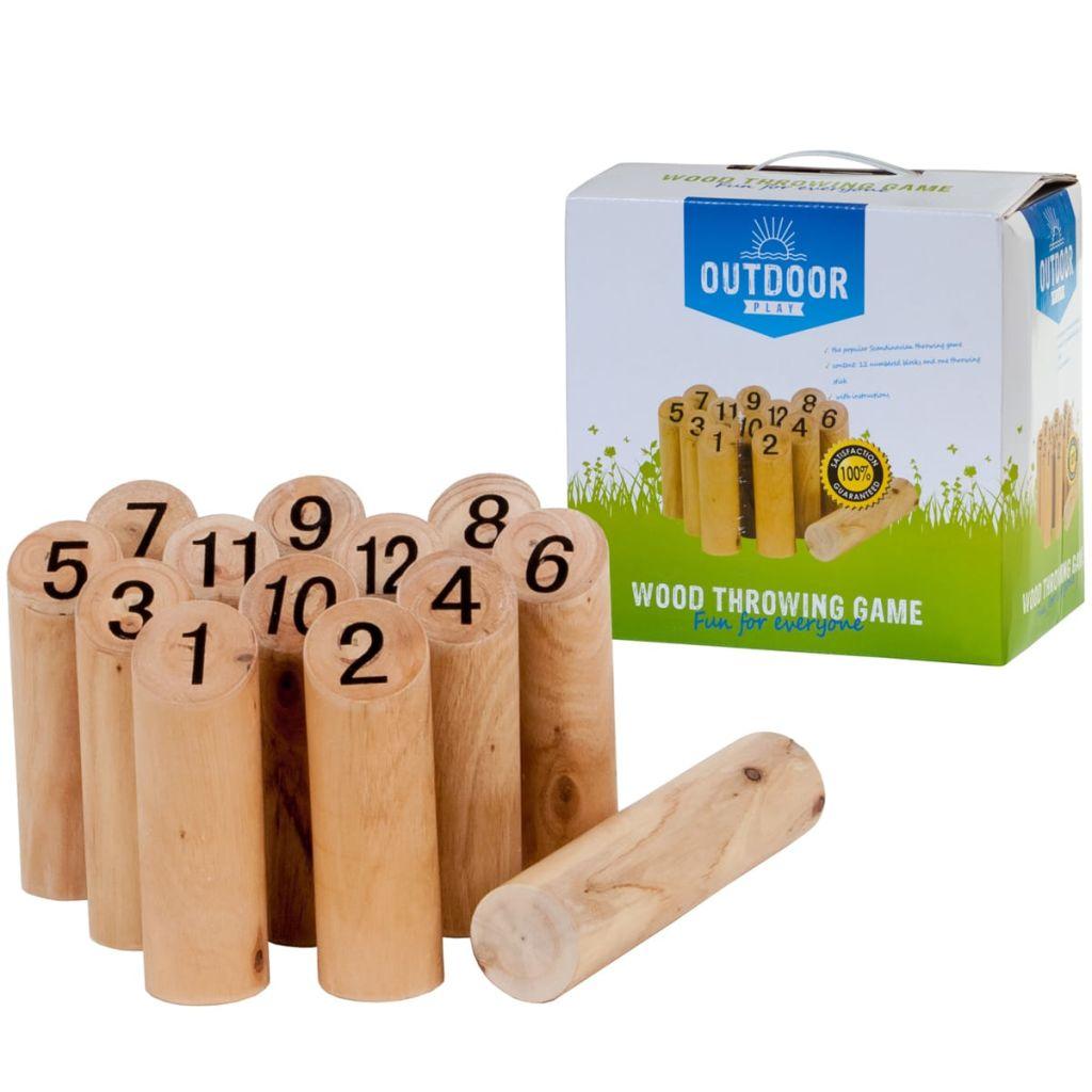 Vonkajšia hra s číslami Kubb OUTDOOR PLAY