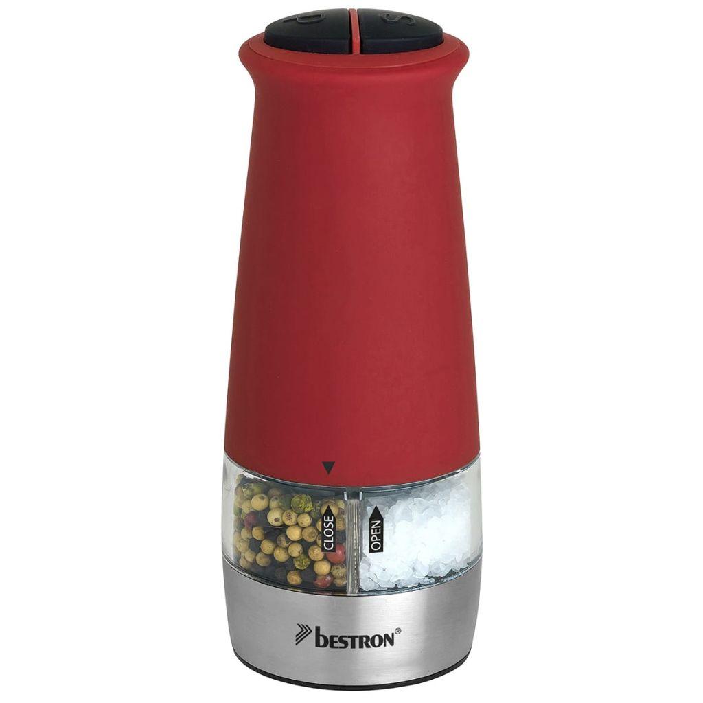 Bestron Elektrické mlynčeky na soľ na korenie, červená súprava, APS532R