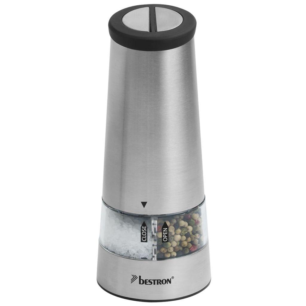 Bestron Elektrický mlynček na soľ na korenie, INOX APS544S