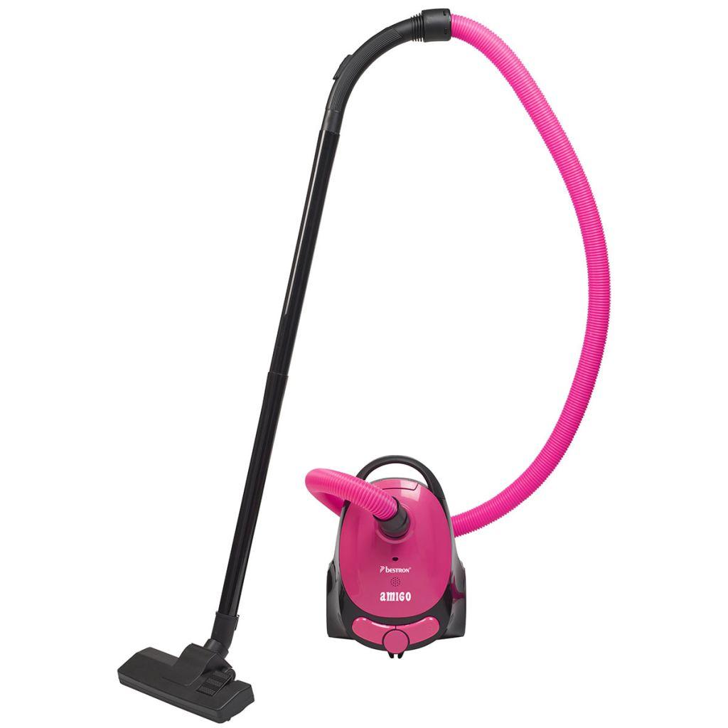Bestron Vysávač Amigo, ružovo-čierny, ABG100AMP
