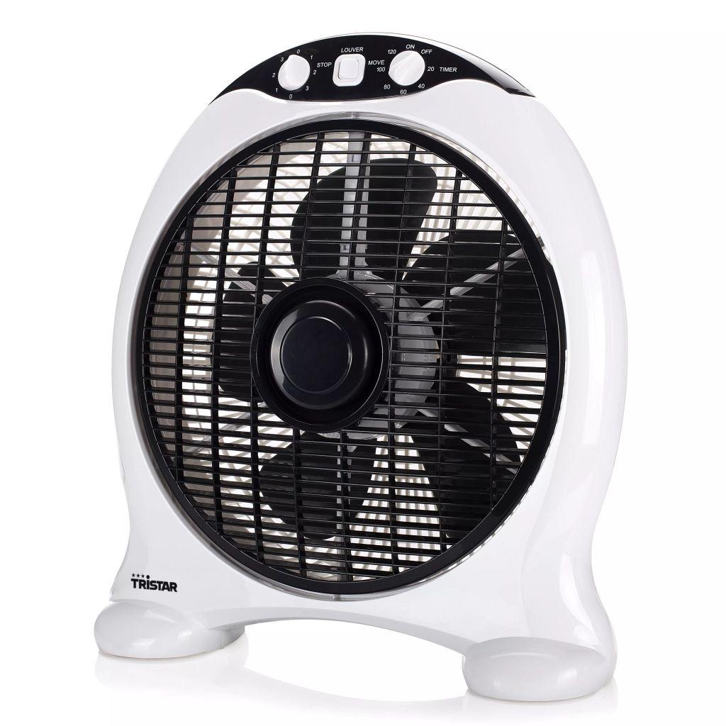 Tristar Krabicový ventilátor VE-5997, 50 W, čierno-biely