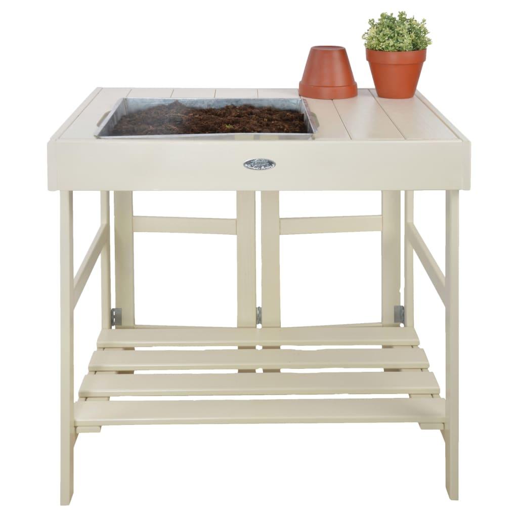 Esschert Design Presádzací stolík biely