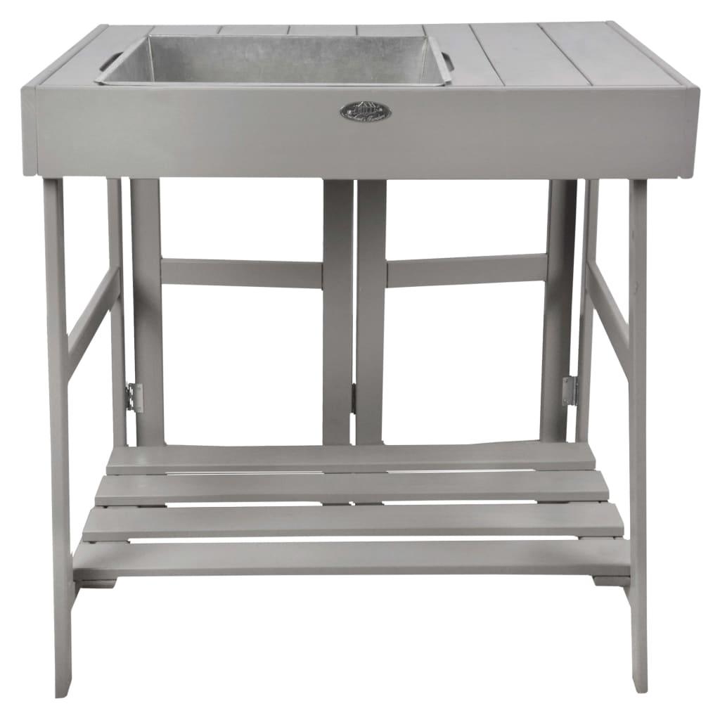 Esschert Design Presádzací stolík sivý