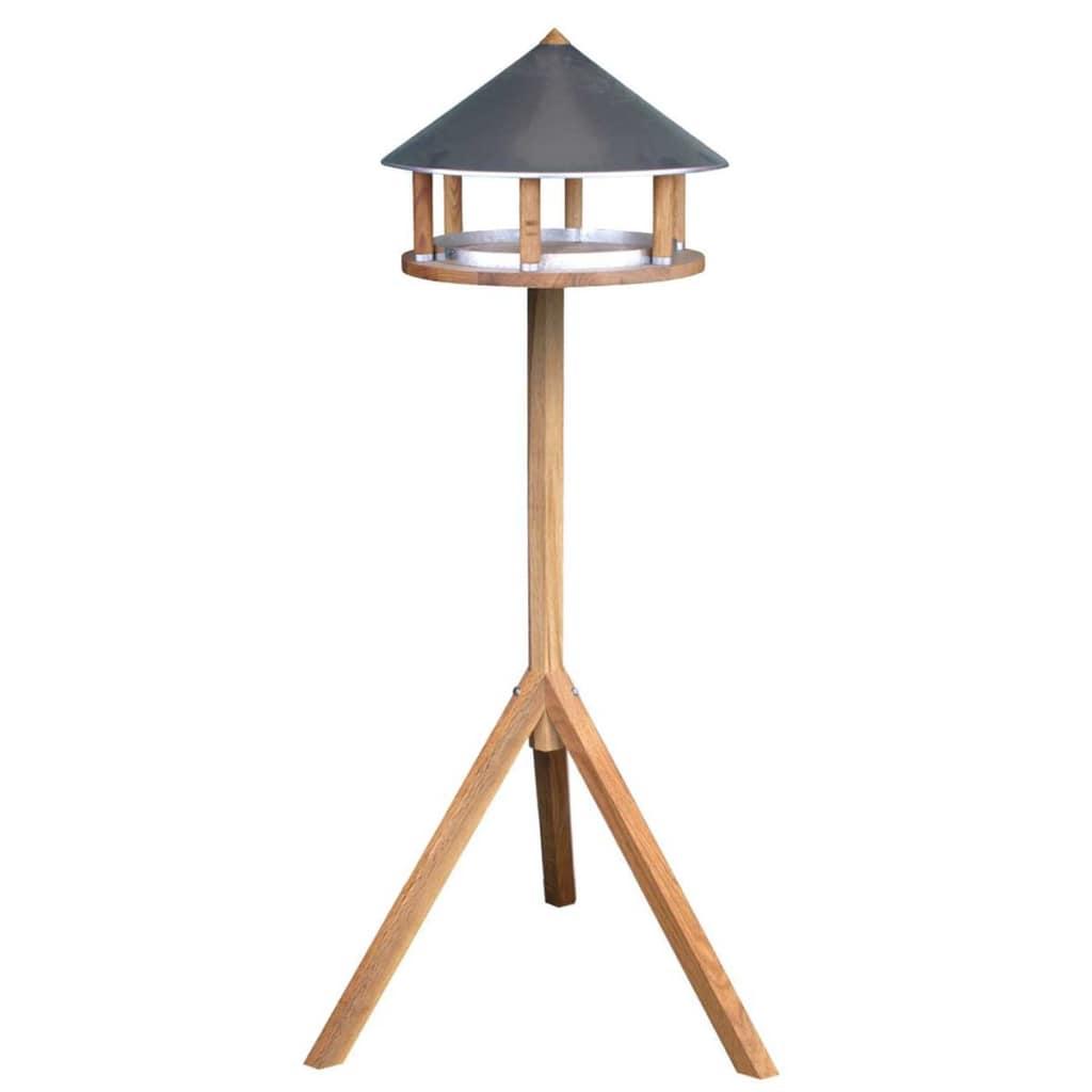 Esschert Design Krmítko trojuholníkové zinková strecha FB431