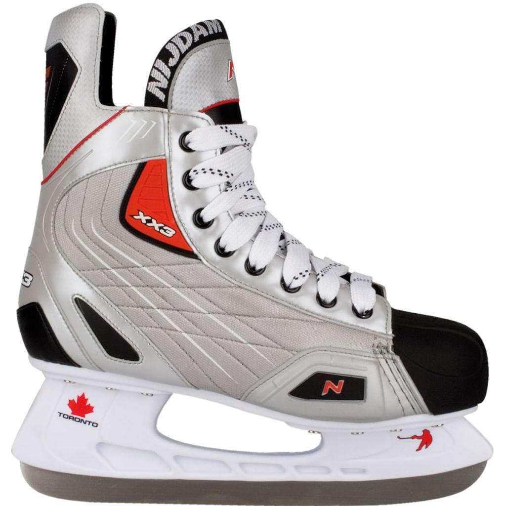 Nijdam Korčule na ľadový hokej, veľkosť 42, polyester, 3385-ZZR-42