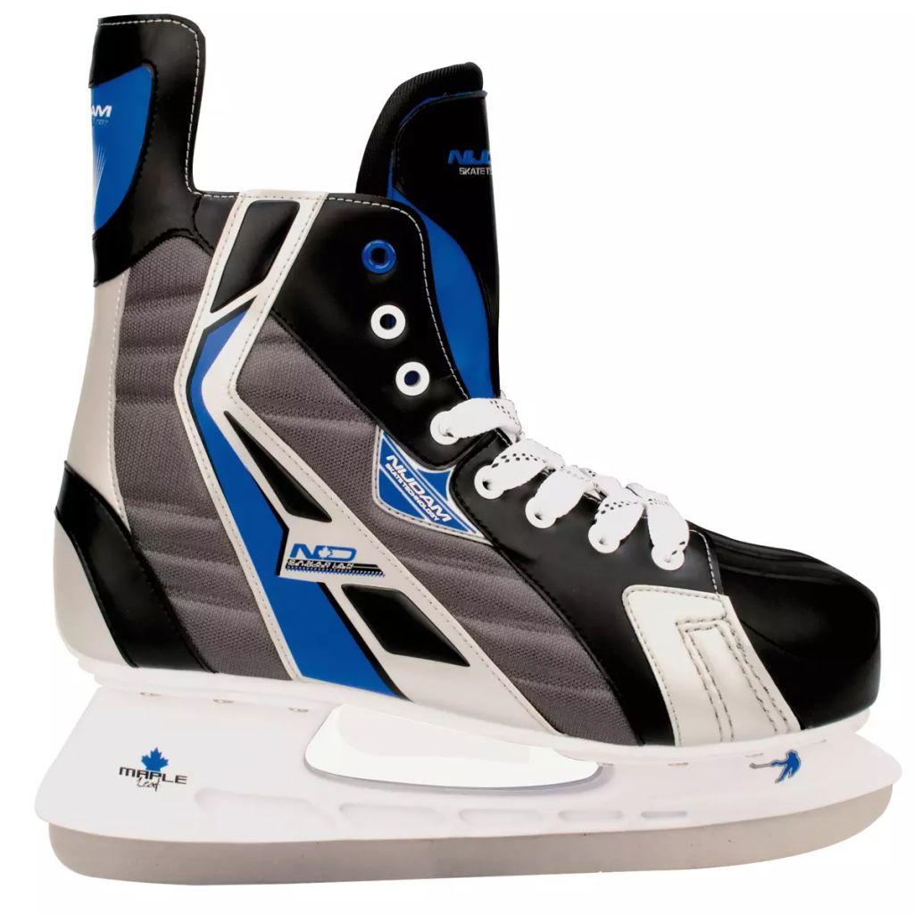 Nijdam Korčule na ľadový hokej, veľkosť 46, polyester, 3386-ZBZ-46