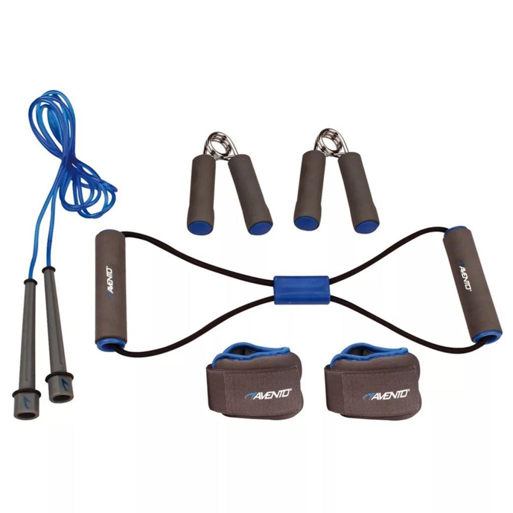 Avento Fitnes sada sivá/kobaltovo-modrá/čierna 41VE