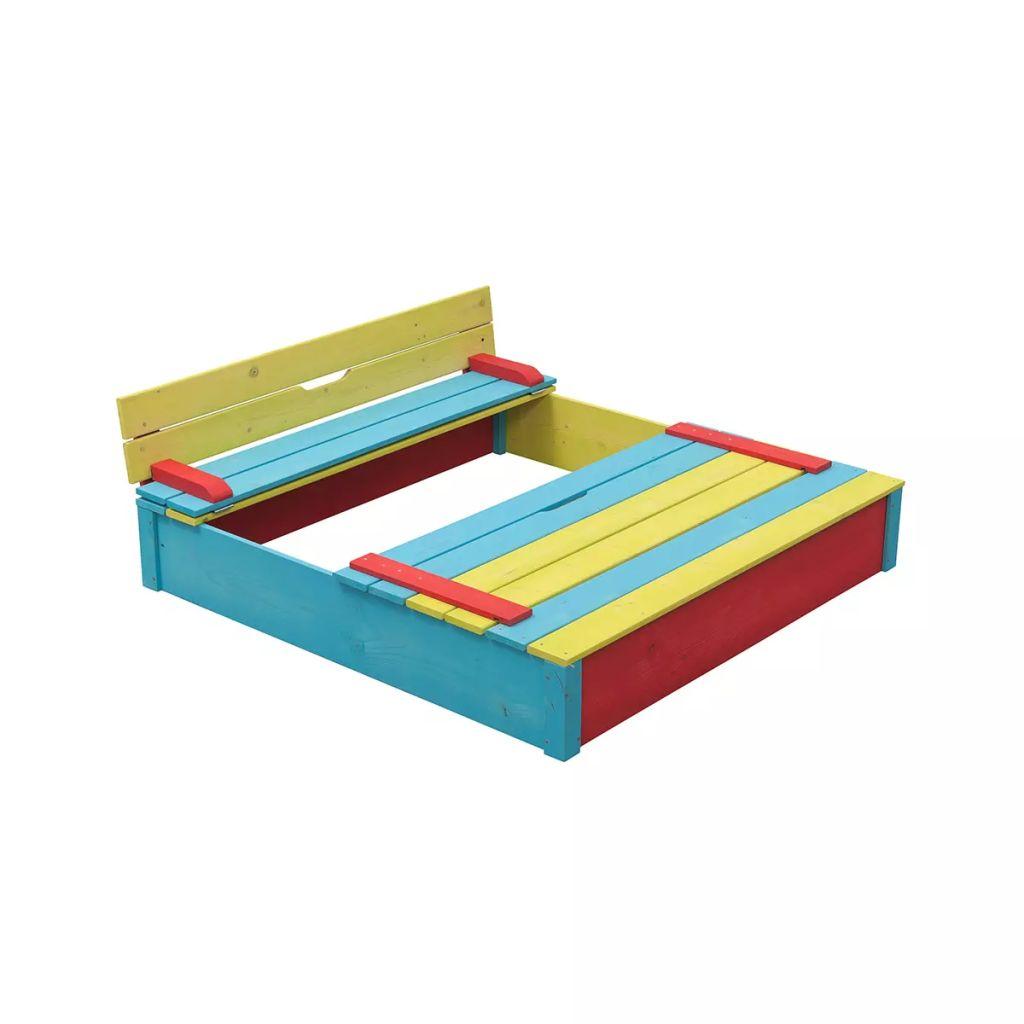 Drevené farebné impregnované pieskovisko Swing King
