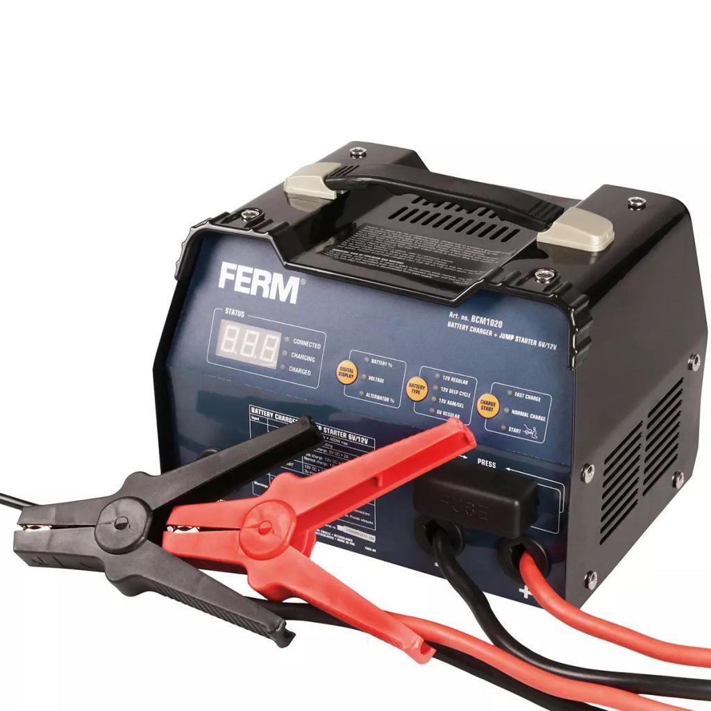 FERM Nabíjačka batérií, 6 V/12 V, 12 A, BCM1020