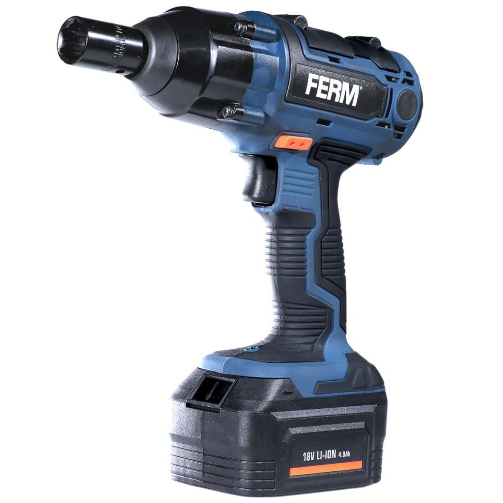 FERM Akumulátorový nárazový skrutkovač, 18 V, 4 Ah, CDM1127