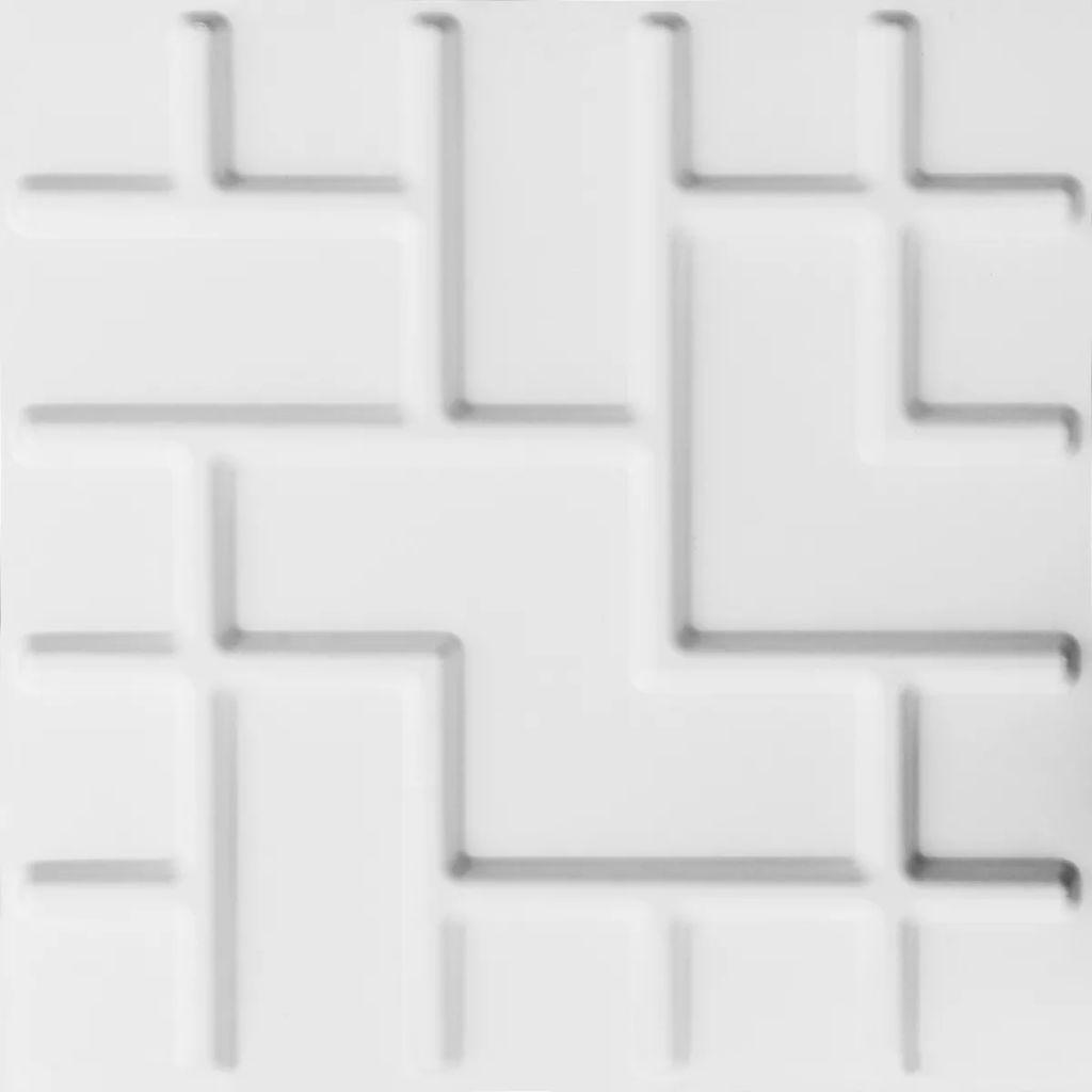 WallArt Nástenné 3D panely Tetris 12 ks GA-WA16