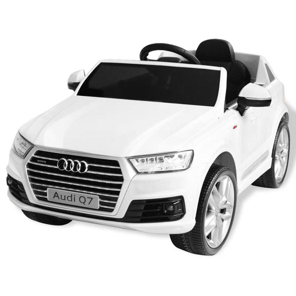 vidaXL Elektrické autíčko Audi Q7, biele, 6 V