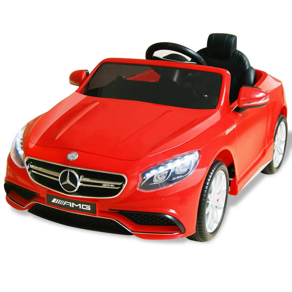 vidaXL Elektrické autíčko Mercedes Benz AMG S63, červené 12 V