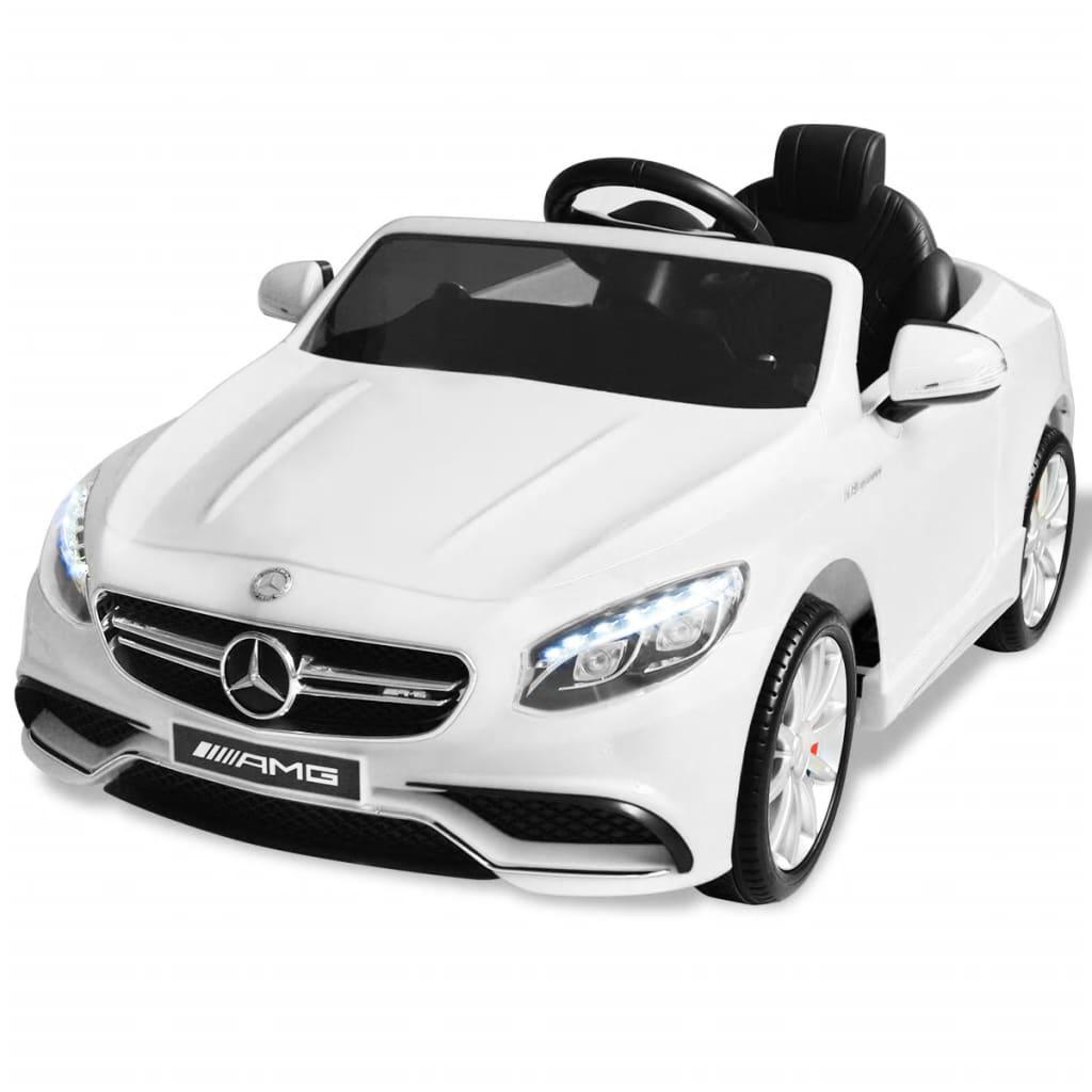 vidaXL Elektrické autíčko Mercedes Benz AMG S63, biele 12 V