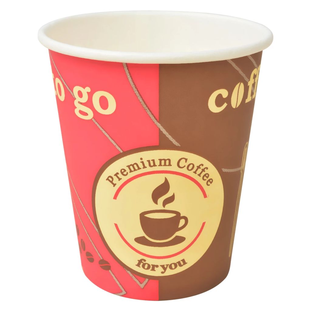vidaXL Jednorazové poháre na kávu, 1000 ks, papierové, 290ml